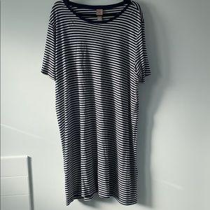 H&M+ Striped Midi Jersey Dress